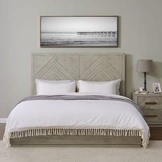 Modern bed design stylish decor - Connie Leonard furniture and flooring