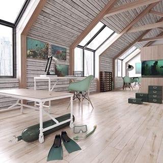 Loft design - Connie Leonard furniture and flooring