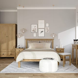 Stylish bedroom design - Connie Leonard furniture and flooring